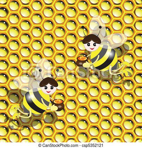 bee and honey - csp5352121