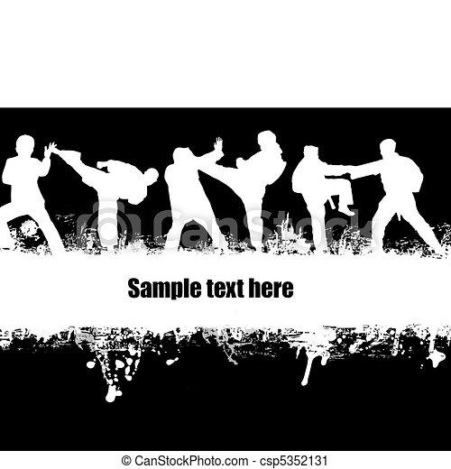 Karate poster - csp5352131