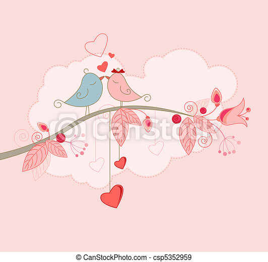 Valentine's Day greeting card  - csp5352959