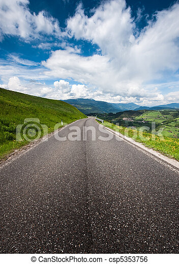 Country Road in the Alps - csp5353756