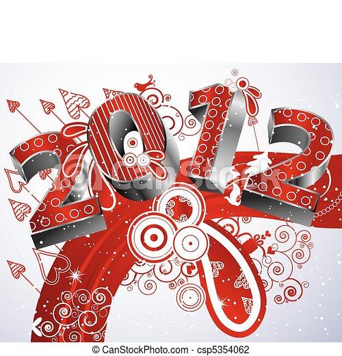 Happy new year 2012 - csp5354062