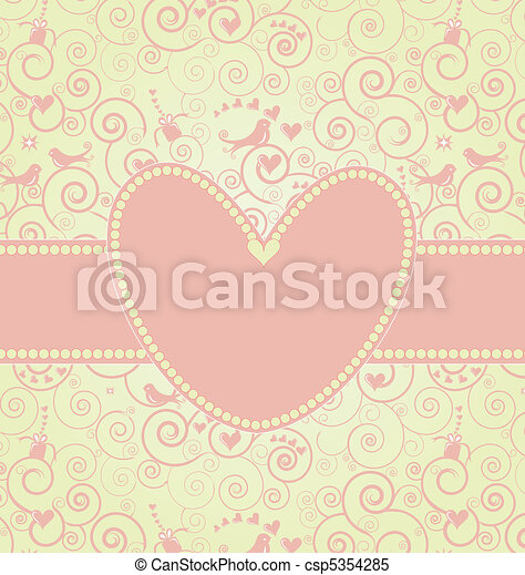 Sweet Valentine's Day Card in Pink - csp5354285