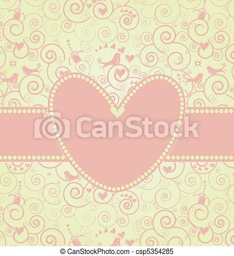 Sweet Valentine's Day Card in Pink - csp5354285