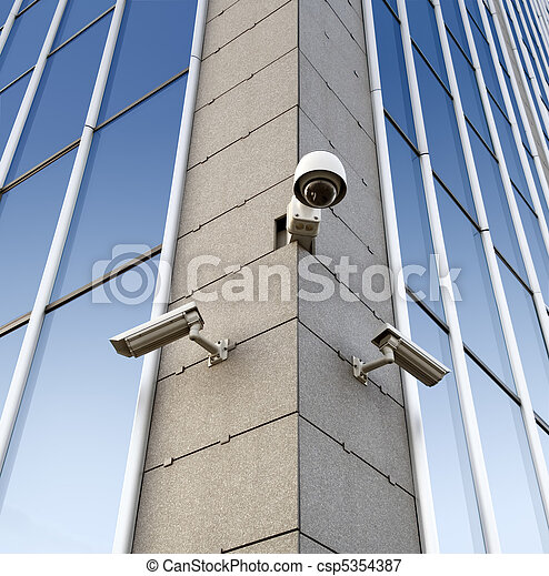 Security cameras on the wall - csp5354387