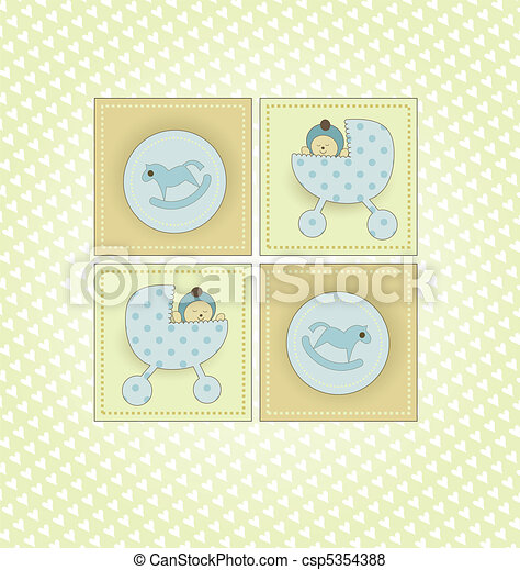 Sweet Welcome Baby Card - csp5354388