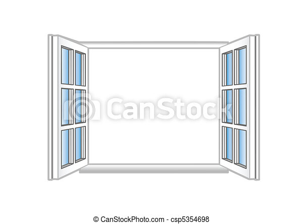 Vector illustration a plastic open window - csp5354698