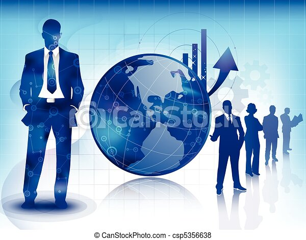 Blue business and technology background - csp5356638