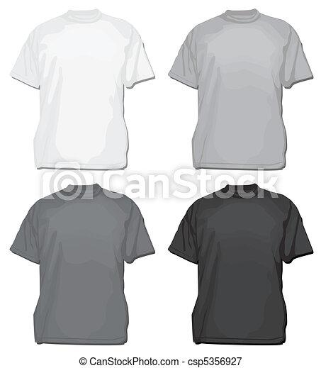 Vector T-Shirt or Tee Template - csp5356927