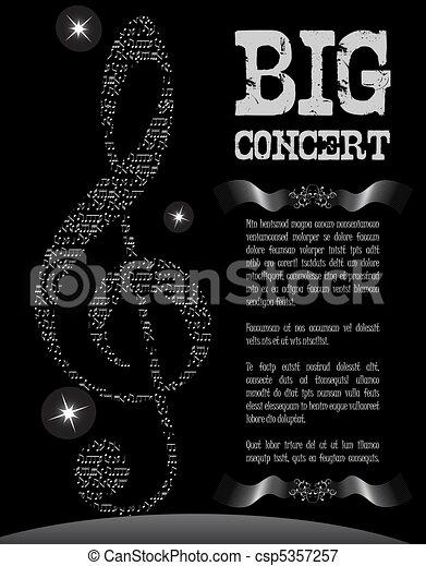 Music poster - csp5357257
