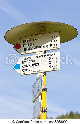guideposts, Czech Republic - csp5358092