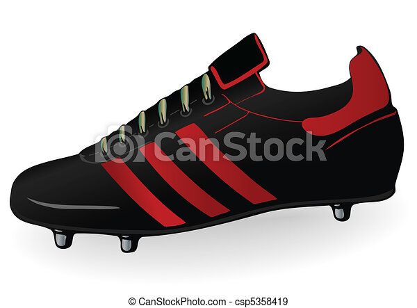 Vector illustration a football boot - csp5358419
