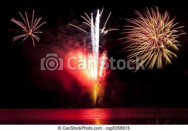 exploding fireworks - csp5358915