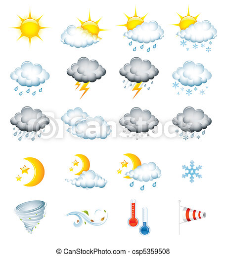 Weather icons - csp5359508