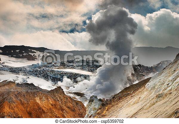 Active volcano - csp5359702
