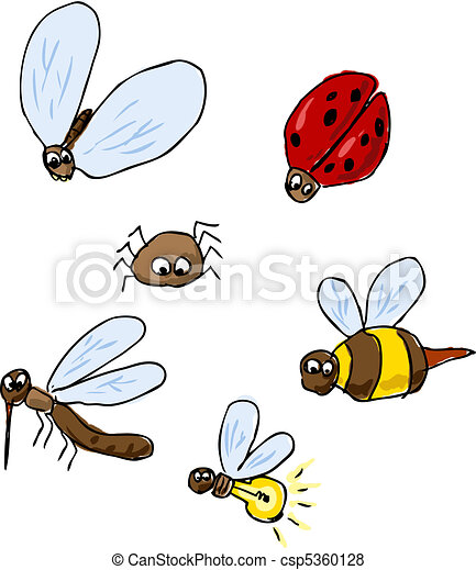 Cute insect drawing - photo#49