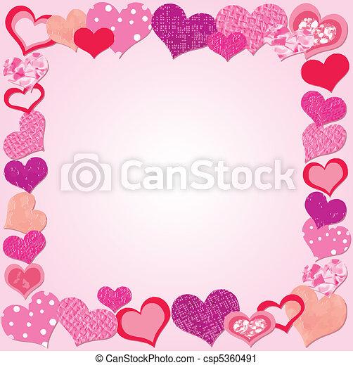 Valentine Day Pink frame - csp5360491