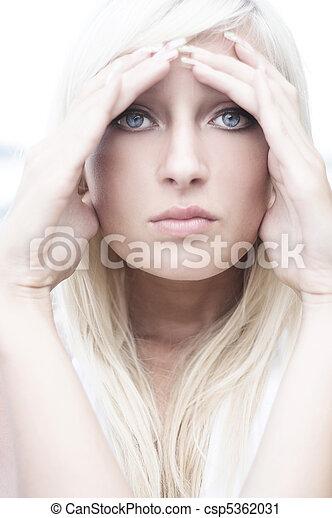 Beautiful blonde posing - csp5362031