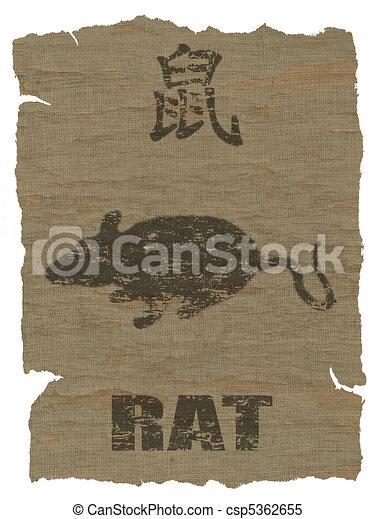 Rat Zodiac icon - csp5362655