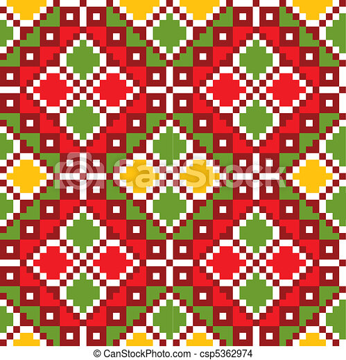 Ukraine ethnic pattern. - csp5362974