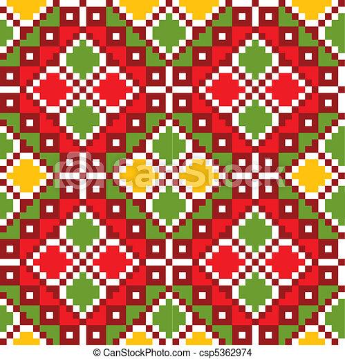 Ukraine ethnic pattern. - csp5362974