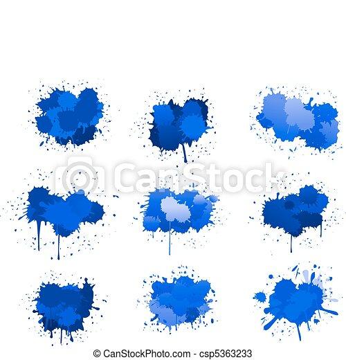 Blue ink blobs - csp5363233