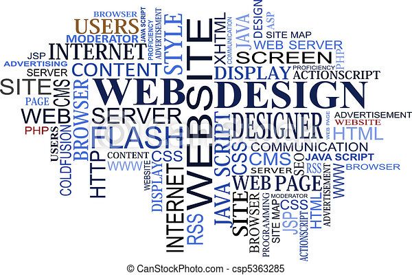 Design and web tags cloud - csp5363285