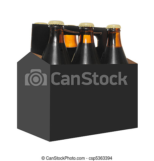 Stock photo of six pack of beer bottles six pack of beer for 6 pack beer carrier template
