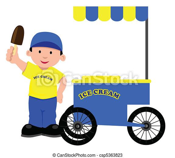 Ice Cream Seller - csp5363823