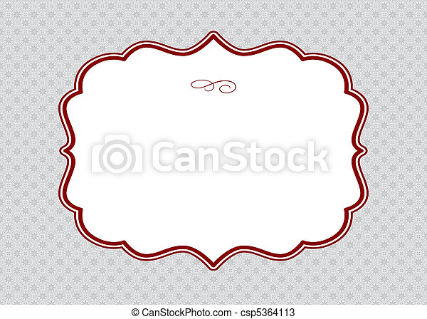 Vector Red Frame and Ornate Pattern - csp5364113
