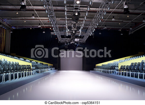 Catwalk Fashion Photos on Stock Photography Of Empty Catwalk   Catwalk Before A Fashion Show