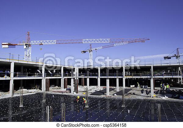 konstruktion, plats - csp5364158