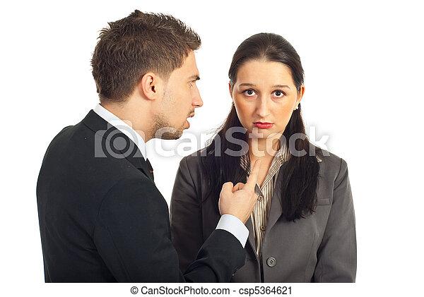 Boss argue employer woman - csp5364621