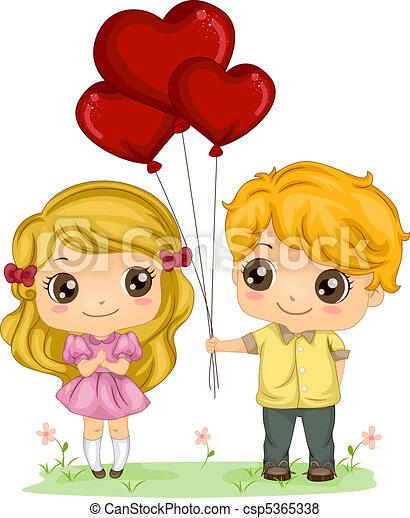 Boy Giving Balloons - csp5365338