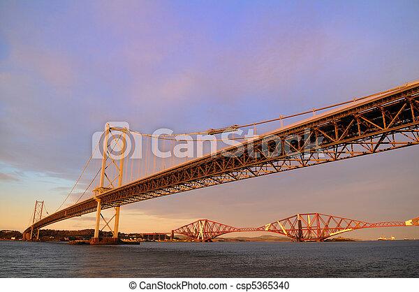 The Forth Road and Rail Bridges - csp5365340
