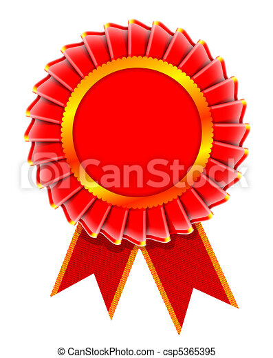 Illustration of award rosette - csp5365395