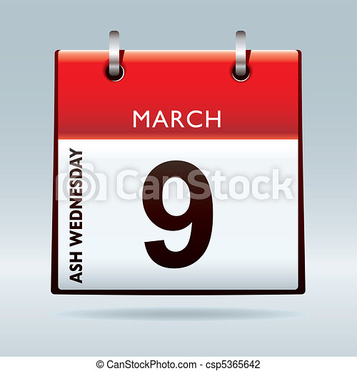 Ash Wednesday Calendar - csp5365642