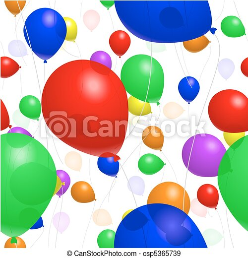 Seamless balloon background - csp5365739
