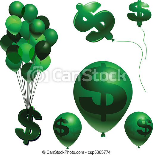 Inflation balloons - csp5365774
