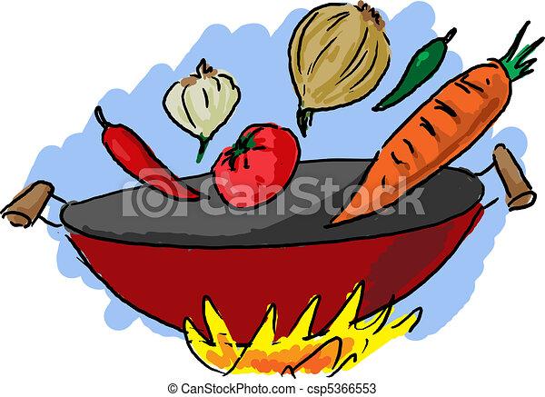 zeichnungen von k che kochen asiatisch asiatisch vegetarier csp5366553 suchen sie. Black Bedroom Furniture Sets. Home Design Ideas