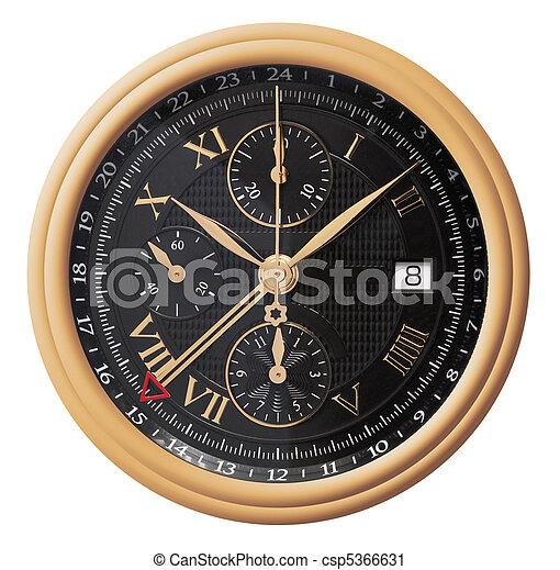 Gold watch - csp5366631