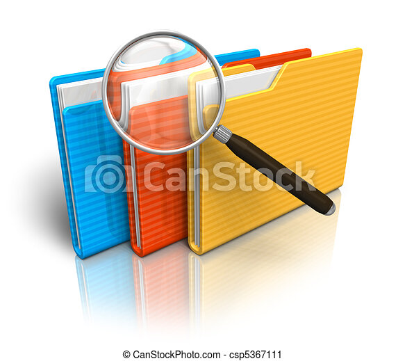File search concept - csp5367111