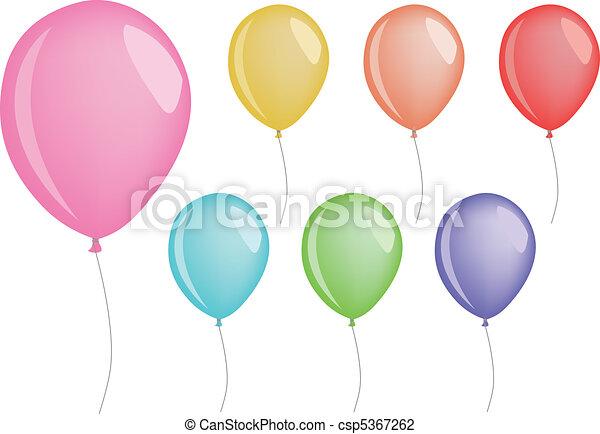 vector balloons - csp5367262