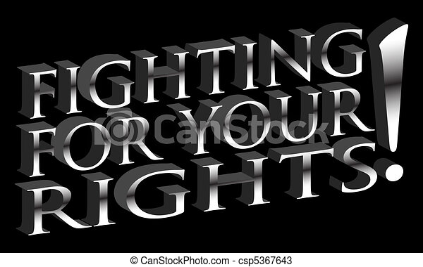 Fighting For Your Rights - csp5367643