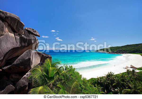 Perfect beach in Seychelles - csp5367721
