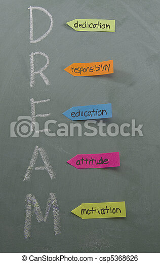 Dedication Responsibility Education Attitude Motivation - csp5368626
