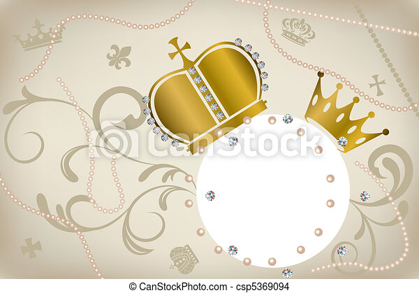 Decoration crowns frame - csp5369094