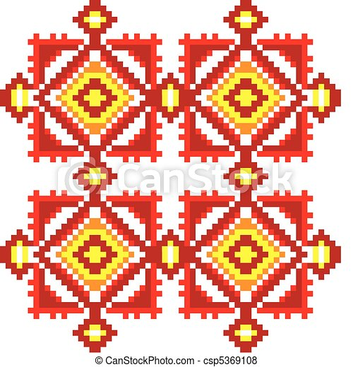 Ukraine ethnic pattern. - csp5369108