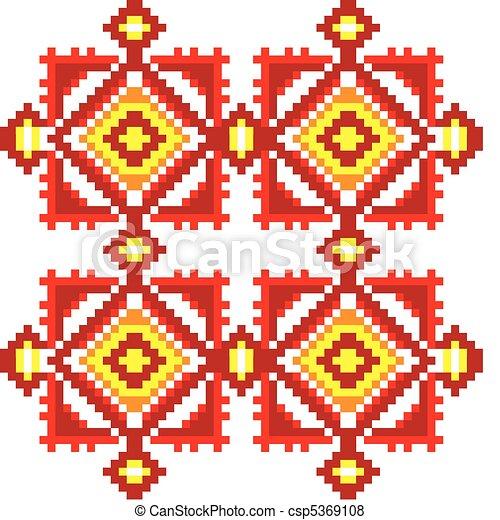 Ukraine ethnic pattern. - csp5369108