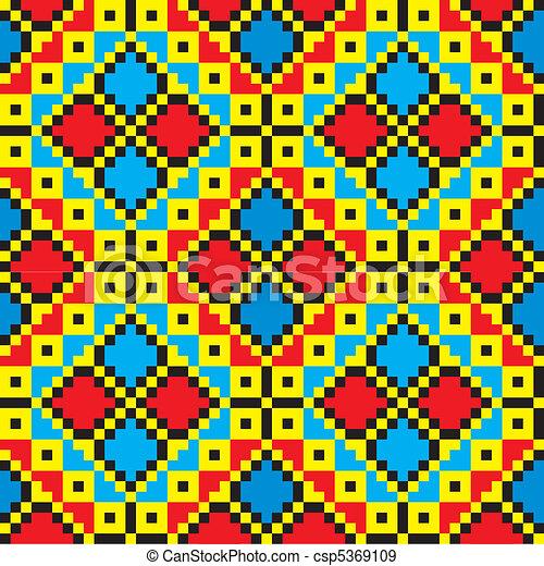 Ukraine ethnic pattern. - csp5369109