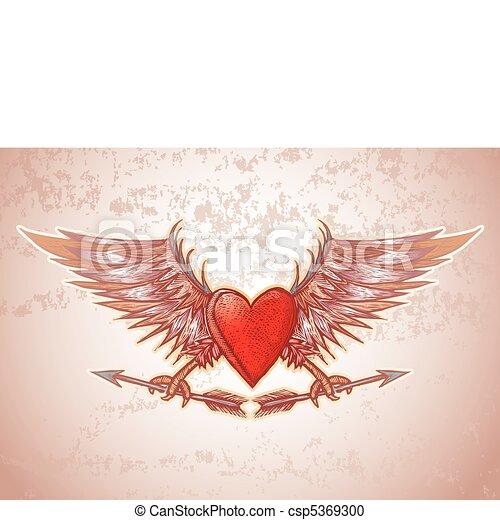 Heart crest - csp5369300